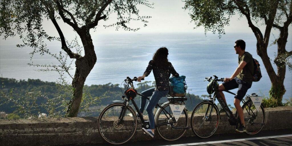 In bici sopra Camogli, tra Ruta e San Rocco