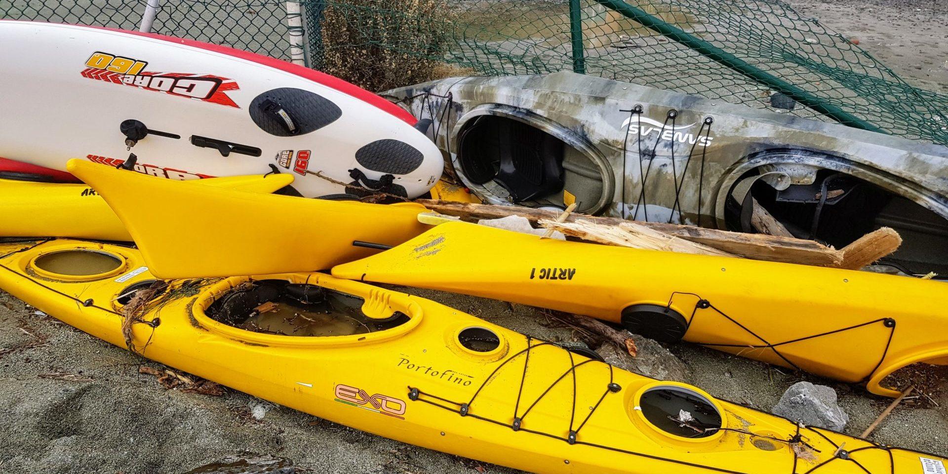 Kayak Monterosso Mareggiata