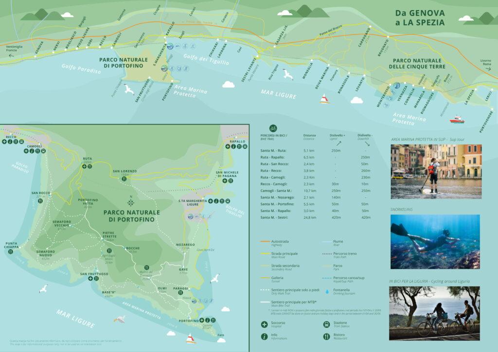 mappa Liguria Portofino Cinque terre Genova