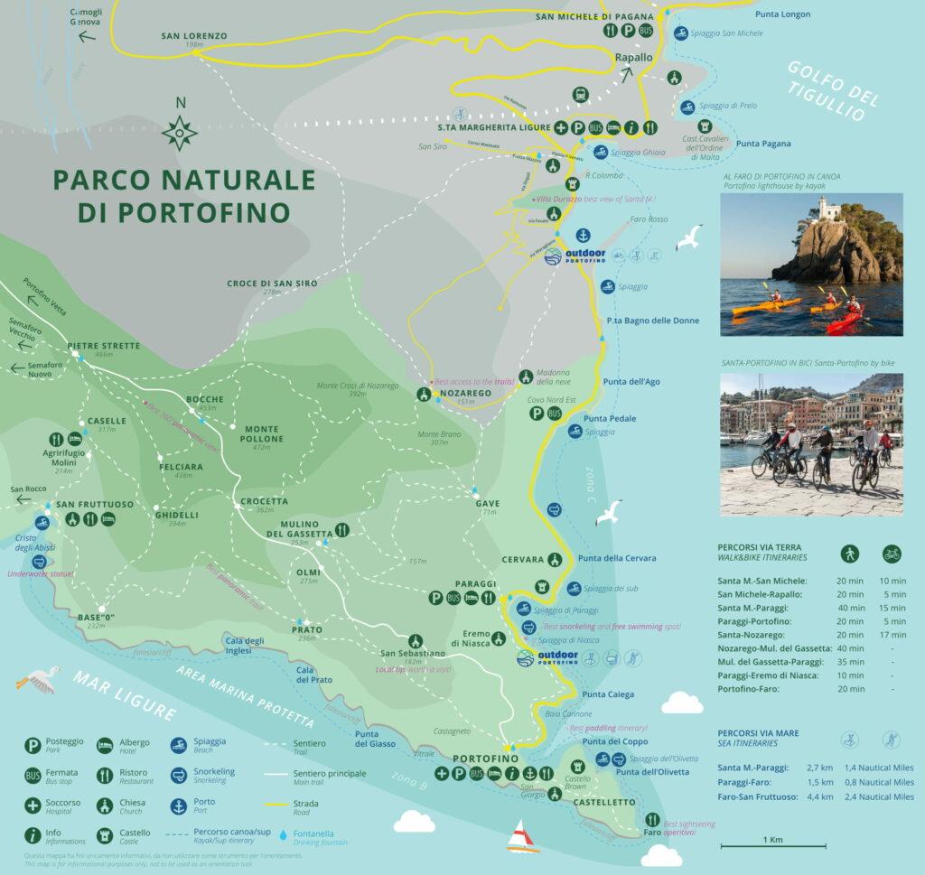 Mappa Portofino Santa Margherita Ligure
