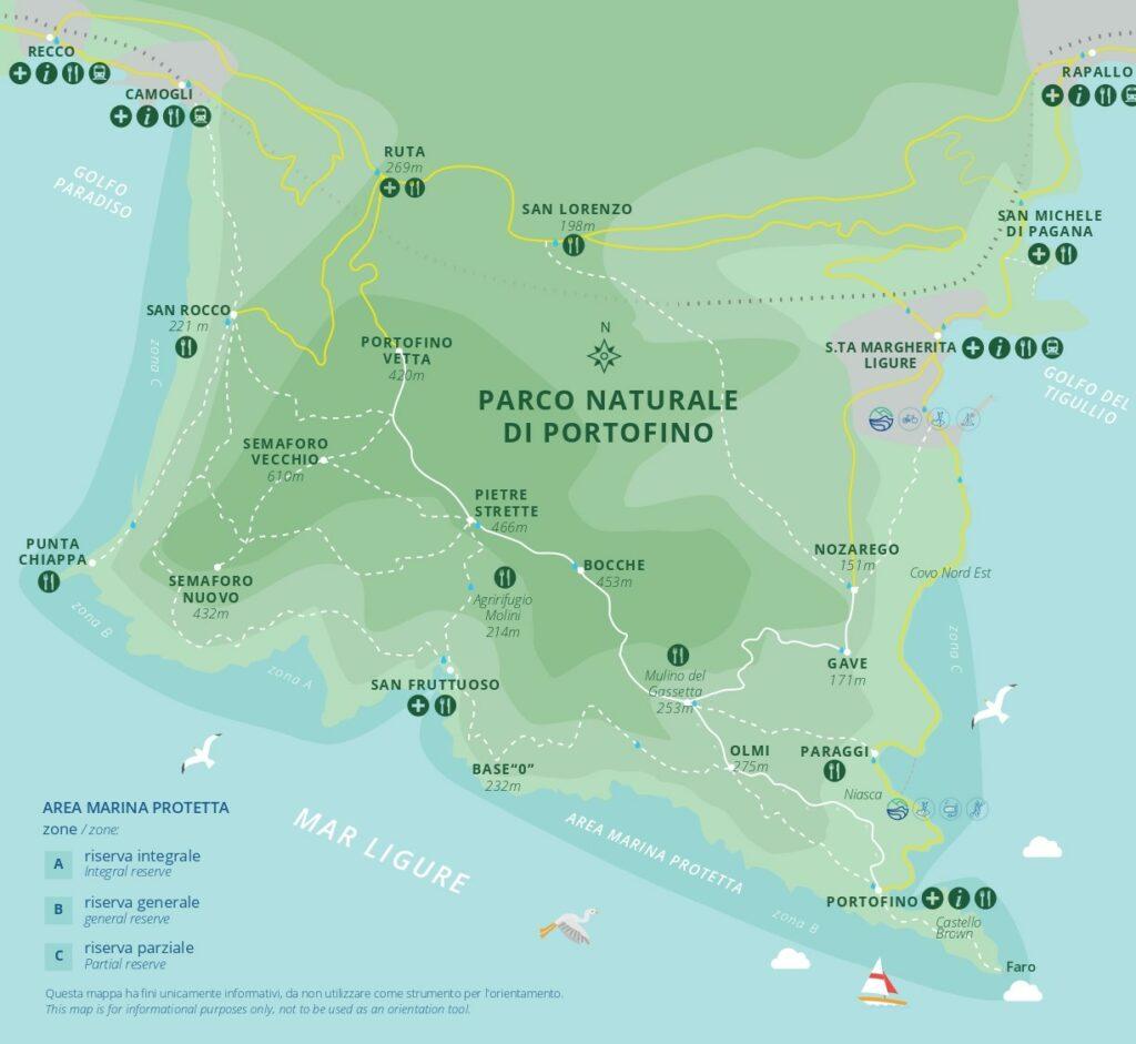 San Fruttuoso mappa