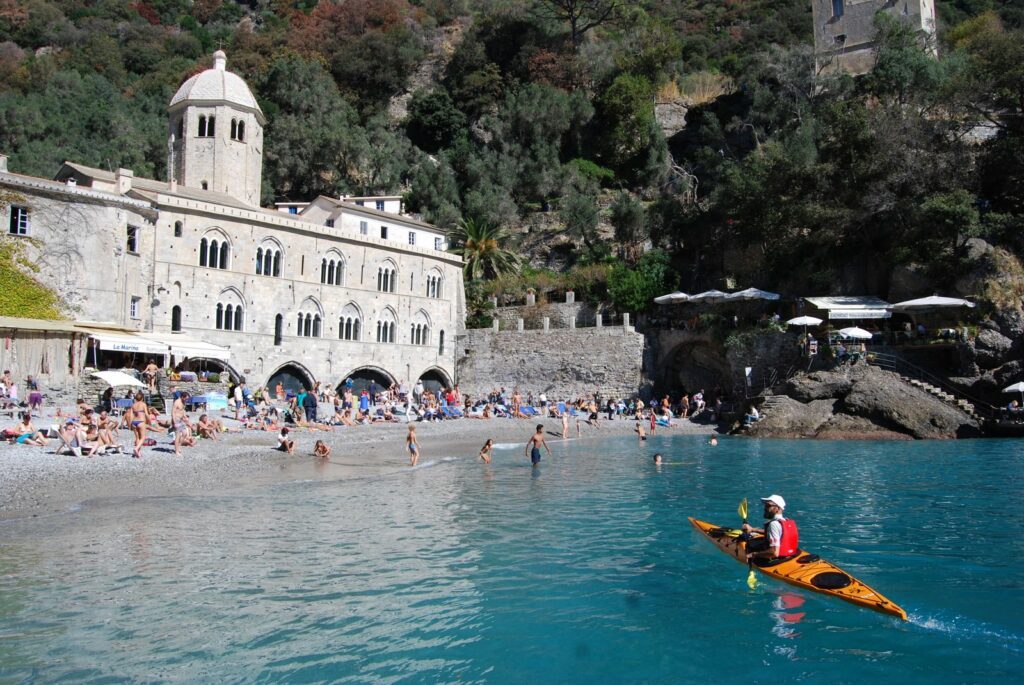 San Fruttuoso by the sea kayaking